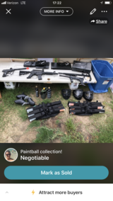 Paintball collection in Columbus, Georgia