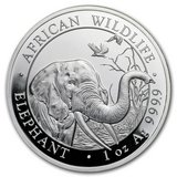 2018 Somalia 1 oz Silver Elephant BU in DeRidder, Louisiana
