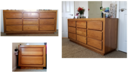 Wooden simple dresser and bedside box set in Lockport, Illinois