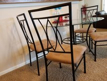 Dining table - glass , 4 chairs in Aurora, Illinois