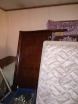 sleigh bed with queen box springs and mattress in Fort Campbell, Kentucky