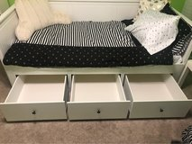 Like new bed w/mattress and bedding in Aurora, Illinois
