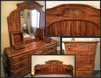 BEDROOM SET - Traditional Carved Design Motif in Aurora, Illinois