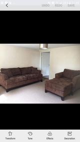 large couch  /armchair anf puff matching in Lakenheath, UK