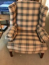 Plaid chair in Chicago, Illinois