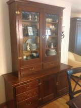 2 PIECE SOLID OAK CABINET in St. Charles, Illinois