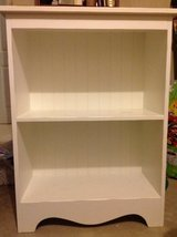 White bookshelf in Naperville, Illinois