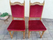 2 antique chairs with red upholstery in Baumholder, GE