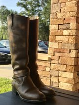 FRYE dark brown boots in Fort Bragg, North Carolina