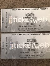 Two Tickets for Dorothy & Charming Liars 7/27/18 The Forge Joliet in New Lenox, Illinois