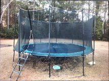 Kangaroo Hoppers Trampoline w/ enclosure and ladder in Cherry Point, North Carolina