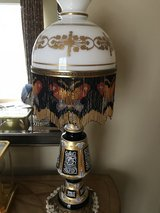 Lamp with hand painted beautiful details in Beaufort, South Carolina