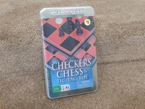 Brand New Checkers, Tic Tac Toe and Chess Games in Shorewood, Illinois