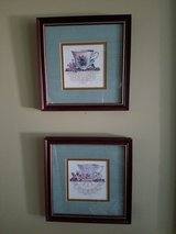 Set of 2 teacup framed pictures in Westmont, Illinois