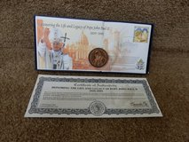 Pope John Paul II Coin and Stamp in Yorkville, Illinois