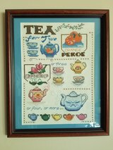 Teapot/cup cross stitched framed picture in Westmont, Illinois