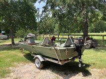 14' Alum. boat, 8 hp motor and trailer in Kingwood, Texas