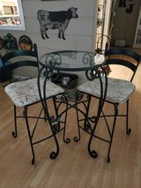 REDUCED...Pier One Wrought Iron Bistro Set in Conroe, Texas