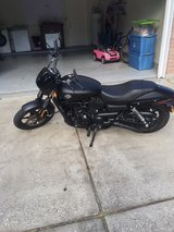 Harley Davidson motorcycle in The Woodlands, Texas