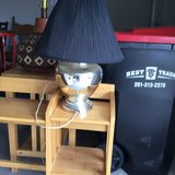 Silver lamp in Cleveland, Texas