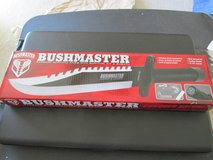 BUSHMASTER SAWBACK SURVIVAL BOWIE KNIFE w/SURVIVAL KIT & LEATHER SHEATH..NIB in El Paso, Texas