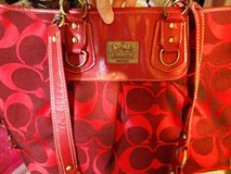 COACH purse, red, large, NICE in Fort Campbell, Kentucky