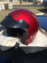 Motorcycle helmet with carry case in Sandwich, Illinois