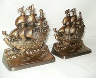 VERY UNIQUE AND VINTAGE BRASS SHIP BOOKENDS in Orland Park, Illinois