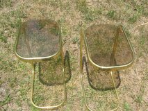 Glass end tables in Fort Leonard Wood, Missouri