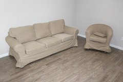 IKEA EKTORP Model Couch and chair EXCELLENT condition! in Kingwood, Texas