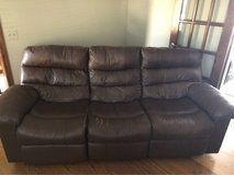 Leather Recliner Sofa in Elgin, Illinois