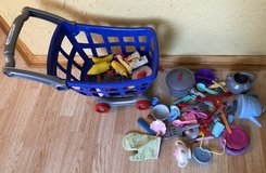 Shopping cart and kitchen toys. in Joliet, Illinois