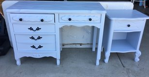 French Provincial desk and nightstand in Vista, California