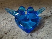 Vintage Bluebirds of Happiness art glass in Westmont, Illinois
