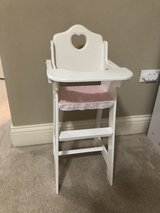 Doll high chair in Schaumburg, Illinois