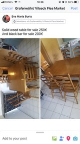 solid wood table with chairs in Grafenwoehr, GE