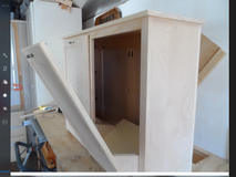 Wood double tip-out trash/recycle cabinet (or laundry, dog food storage, etc) in Quantico, Virginia