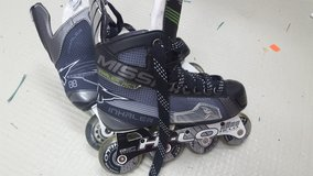 Mission Inhaler AC7 Inline Roller Blades Hockey Skates YOUTH Size 3 in Wiesbaden, GE