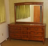 Solid Cherrywood Dresser with large mirror. in Vacaville, California