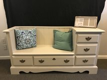 Repurposed dresser to bench in Conroe, Texas