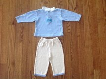 Baby Boy Cotton Top and Pull-on Pants 2-Piece Set, size 0-3 months in Palatine, Illinois