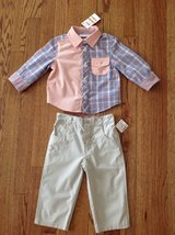 New with Tags First Impressions Baby Toddler Boys 2-Piece Shirt and Pants Set, size 12 months in Palatine, Illinois