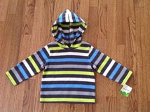 New with Tags Jumping Beans Baby Toddler Boys Striped Fleece Hooded Pullover, Shirt, size 18 months in Palatine, Illinois