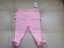 New with Tags the Children's Place Baby Girls Cotton Footed Pants, size 0-3 months, Pink Color in Chicago, Illinois