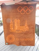 Blanket from the 1972 Munich Olympic Games in Bolingbrook, Illinois