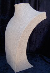 """Large Jewelry Display Bust Stand, 17"""", Neutral Linen Cover in Alamogordo, New Mexico"""