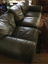 Leather Sofa/ Couch Three Seater in Elgin, Illinois