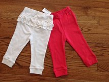 New The Children's Place Baby Girls 2-Pack Cotton Pull-On Pants, size 9-12 months in Chicago, Illinois