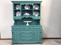 China Hutch All Wood Painted in a beautiful green/teal in Fort Leonard Wood, Missouri