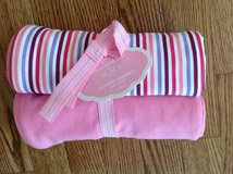 New with Tags the Children's Place Baby Girl Swaddle Blanket 2-Pack in Chicago, Illinois